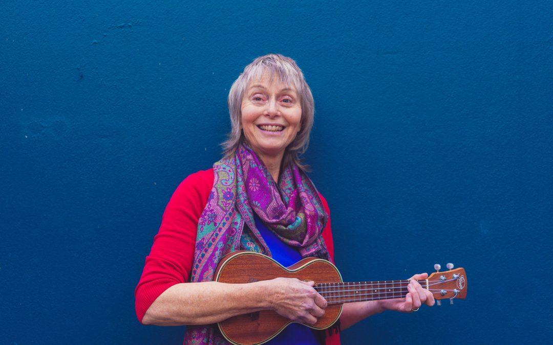 Alice Bulmer with ukulele