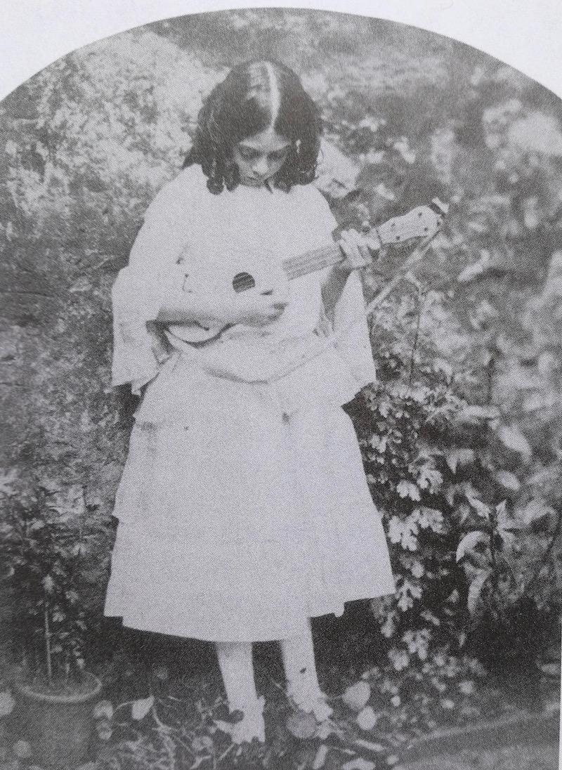 Lorina Liddell with machete
